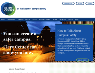 clerycenter.org screenshot