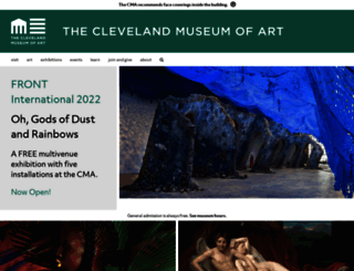 clevelandart.org screenshot