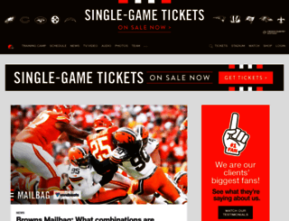 clevelandbrowns.com screenshot
