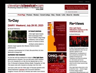 clevelandclassical.com screenshot