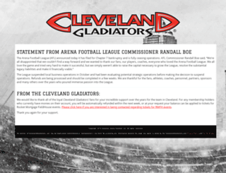 clevelandgladiators.com screenshot