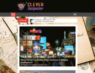 cleverbackpacker.com screenshot