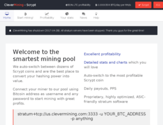 clevermining.com screenshot