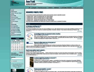 clg-annefrank.ac-aix-marseille.fr screenshot