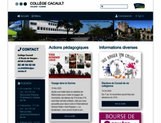 clg-cacault-44.ac-nantes.fr screenshot