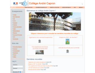 clg-capron.ac-nice.fr screenshot