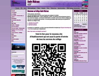 clg-mazan.ac-aix-marseille.fr screenshot