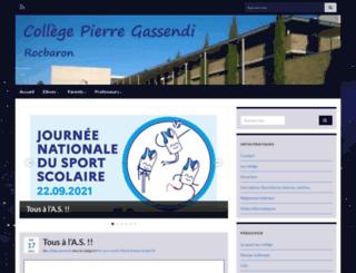 clg-pierre-gassendi.ac-nice.fr screenshot