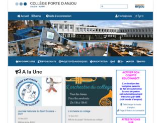clg-porteanjou-49.ac-nantes.fr screenshot