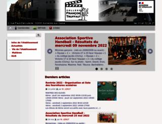 clg-truffaut-asnieres.ac-versailles.fr screenshot
