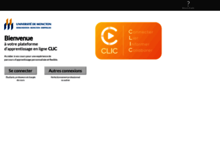 clic.umoncton.ca screenshot