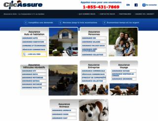 clicassure.com screenshot