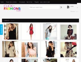 click-fashions.com screenshot