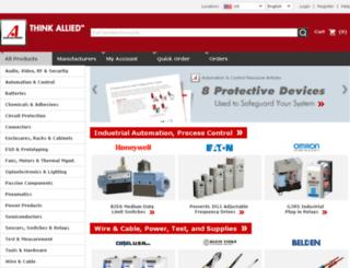 click.alliedelec.com screenshot