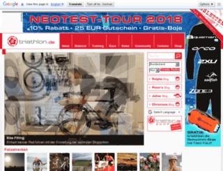 click.triathlon.de screenshot