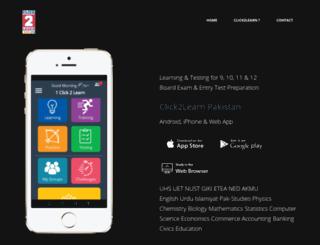 click2learn.pk screenshot
