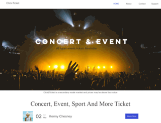 click2ticket.com screenshot
