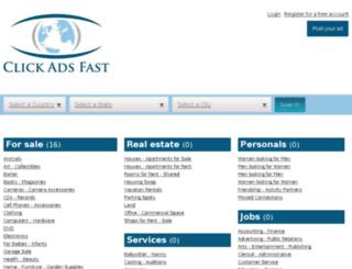 clickadsfast.com screenshot