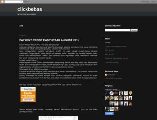 clickbebas.blogspot.com screenshot