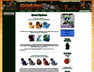 clickcritters.com screenshot