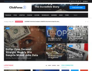 clickforex.com screenshot