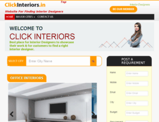 clickinteriors.in screenshot