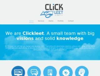 clickleet.com screenshot