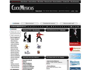 clickmusicas.com screenshot