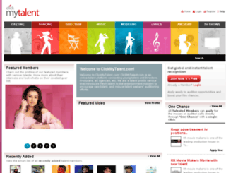 clickmytalent.com screenshot