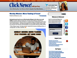 clicknewz.com screenshot