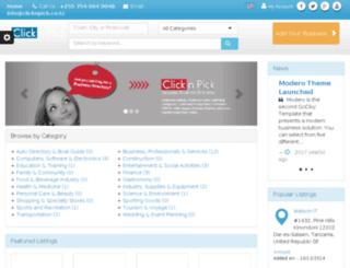 clicknpick.co.tz screenshot