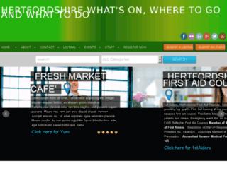 clickonhertfordshire.co.uk screenshot