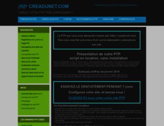 clickpass.creadunet.com screenshot