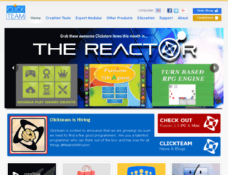 clickteam.com screenshot