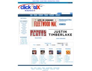 clicktix.com screenshot