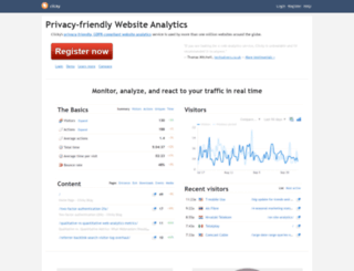 clicky.com screenshot