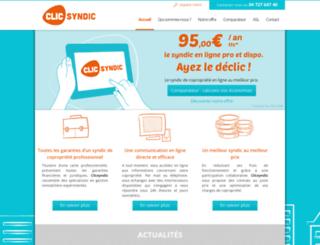 clicsyndic.fr screenshot