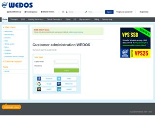 client.wedos.com screenshot