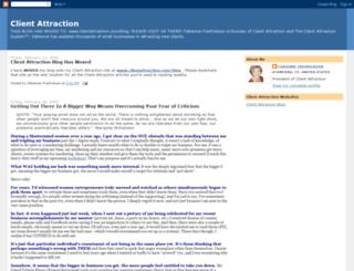 clientattractionsystem.blogspot.com screenshot