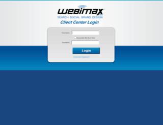 clientcenter.webimax.com screenshot