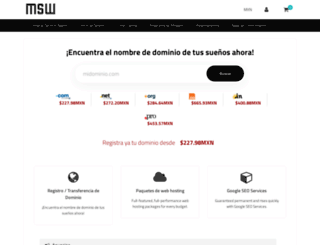 clientes.msw.mx screenshot