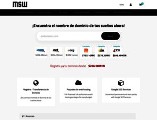 clientes.msw.mx screenshot