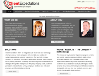 clientexpectations.com screenshot