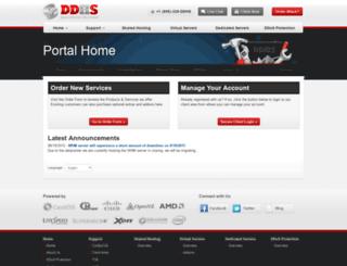 clients.ddoshostingsolutions.com screenshot