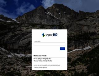 clients.synchr.com screenshot
