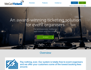 clients.wegottickets.com screenshot