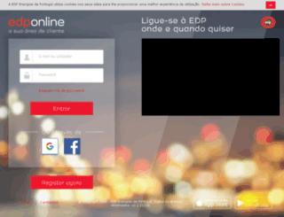 clientservices.edp.pt screenshot