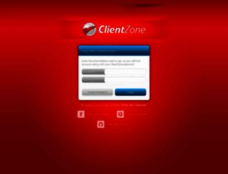 clientzone.afrihost.com screenshot