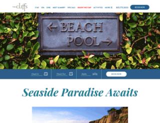 cliffsresort.com screenshot