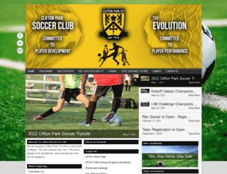 cliftonparksoccerclub.com screenshot